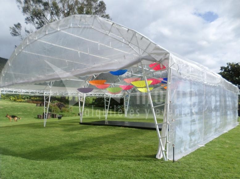 Pabellones 10mt X 6mt hangar modular transparente