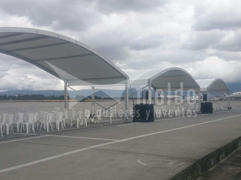 Pabellones 12mt x 5mt importado hangar modular
